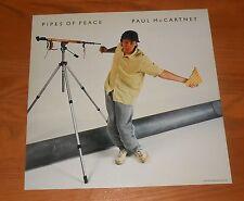 Paul McCartney Pipes of Peace Poster Flat Square 1983 Promo 12x12 RARE Beatles