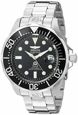 Invicta Mens 3044 Stainless Steel Grand Diver Automatic Watch, Silver/Black