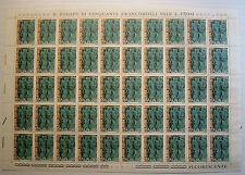 1974 ITALIE 50 livres Ordine Médecine légale feuille entier MNH