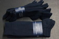 3 pairs LANDS'END Men's COMBED COTTON Dress Socks shoes 5 to 12 Navy Black