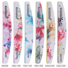 6PCS Flower Design Double Sided Nail Files Durable Sanding Buffer Nail Art Tools