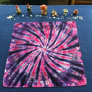 Handmade Tie Dye Bandana ~ 100% Cotton ~ Pink & Purple
