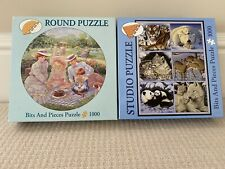 Puzzles Lot of 2 very nice Bits and Pieces 1000 pieces Complete