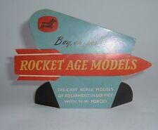 Very Rare Corgi Toys 1960's Shop Display Rocket Age Sign - Superb Mint Condition