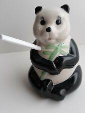 Panda Bear Tiki Mug straw Hole Hand Painted Ceramic Cocktail Party Tropical