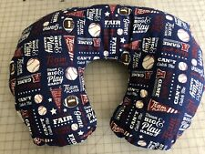 Boppy pillow Cover Baseball Football Flannel Also Take Orders Usa *New Print