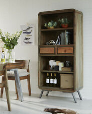 Retro Style Wide Bookcase Colarado Range made from Metal and Wood AS15