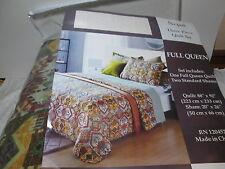 New Newport Home Nepal 3 piece Full/Queen Quilt Set