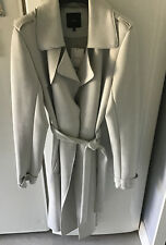 NEXT OUTERWEAR SIZE 12 TALL SUEDETTE GREY TRENCH COAT MAC BNWT RRP £58