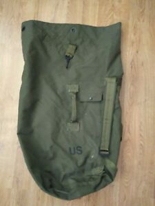 US Military Army Type II Duffel Sea Bag -Top Load -Padded Backpack Straps -Green