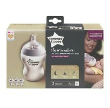 Tommee Tippee Closer to Nature Clear Bottles 260 ml (Pack of 3) **BRAND NEW**