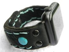Customize watch band strap for Apple iPhone 42 or 38 mm Bison leather bracelet