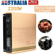 ❤ 2200W Car Amplifier 2 Channel DC 16V Power Amp Audio Bass Stereo Speaker W