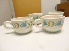 Franciscan stoneware Tulip Time 1963-73 lot OF 4 COFFEE TEA CUPS