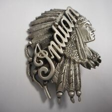 FANTASTIC INDIAN MOTORCYCLE PIN FULL HEADDRESS ** OLD INDIAN ***** WOW