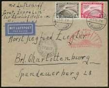 D.Reich Nr. 456 + 458 auf Zeppelinbrief Polarfahrt 1934 (66913)