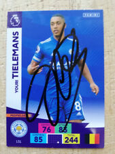More details for youri tielemans leicester city legend hand-signed panini adrenalyn 2020-21 card