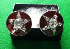 RED DIAMOND - PREMIUM CUFFLINKS & GIFT BOX - FAST UK SELLER !!