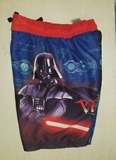 STAR WARS BOYS SWIM TRUNKS/BATHING SUIT  SMALL SM S (5-6) DARTH VADER RED/BLUE