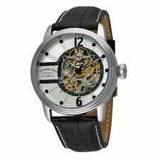 Stuhrling Original 308A 33152 Prospero Automatic Skeleton Leather Mens Watch