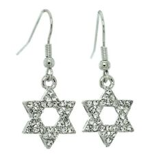 Swarovski Crystal Hook Earring Jewelry Gift Star Of David Earrings Made With