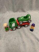 ELC Happyland Racing Transporter & Racing Car & 2 Figures