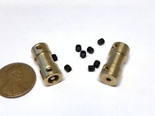 2 sets Motor Coupling Coupler Connector Drive Shaft 2mm 5 Connector boat rc C22