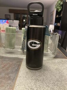 TERVIS GREEN BAY PACKERS 32 OZ WATER BOTTLE DELUXE SPOUT WIDE MOUTH 60 HRS COLD