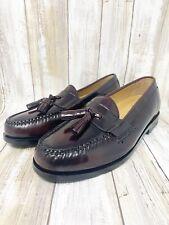 Cole Haan Men's Pinch Tassel Slip on Loafer Shoes Burgundy Leather Size 7