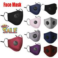 5x PM2.5 Anti Air Pollution Face Mask Respirator With Filter Washable & Reusable
