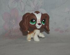 LPS Littlest Pet Shop #156 Brown, White Cocker Spaniel - Dog Puppy Green Eyes