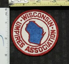 WISCONSIN UMPIRES ASSOCIATION PATCH Embroidered VINTAGE SEWN BACK NEW! NICE!