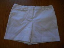 Women's Worthington Sateen Dress Shorts Size 8P White Modern Fit Relaxed NEW