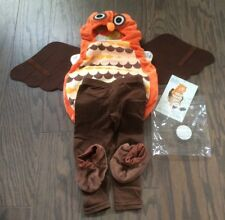 Boo Babies Owl Costume 9-18 Months Complete Set Body Suit Booties