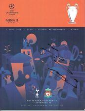 Mo Salah Signed Liverpool Champions League Final Programme 2019 AFTAL/UACC RD