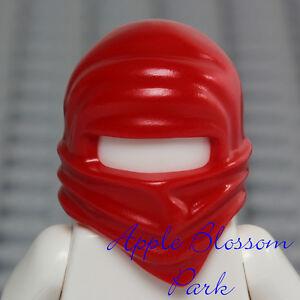 NEW Lego Ninjago Ninja RED HEAD WRAP Kai Boy Minifig Headwrap Hood Hat Fire Gear