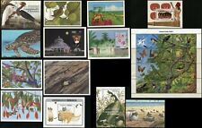 DOMINICA Commonwealth Nature Animals Flowers Postage Souvenir Sheet Collection