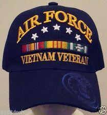 U.S. AIR FORCE USAF VIET NAM VIETNAM VETERAN VET SERVICE CAMPAIGN RIBBON CAP HAT