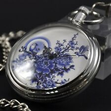 Antique Automatic Mechanical Pocket Watch Self-winding Vintage Retro Chain Gifts