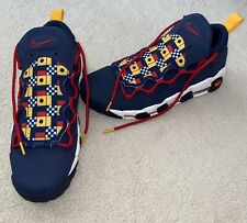 NEW Men's Nike Air More Money Nautical Redux Midnight Navy Blue, Red Size 10.5