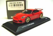1:43 MINICHAMPS 2017 PORSCHE 911 991 II GT3 China Edition red / gold rims LE 22