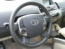 CHARCOAL Leather Steering Wheel Cover for Toyota Wheelskins Size 14 1/2 X 4