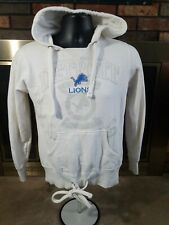 Detroit Lions NFL FOOTBALL White Hoodie Hooded Sweatshirt Womens Size Small EUC
