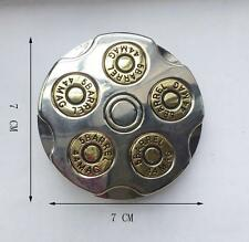 3D Gun Bullet Spinner Spining Revolver Military Belt Buckle  44MAC 5 BARREL