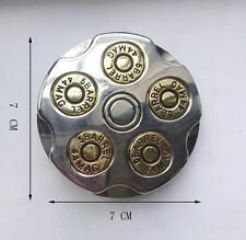 3D Gun Bullet Spinner Spining Revolver Military Belt Buckle  44MAC 5 BARREL