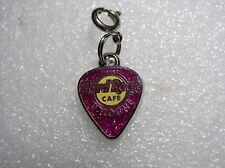 """COLOGNE,Hard Rock Cafe,Charm""""guitar pick"""" for bracelet sparkling purple"""