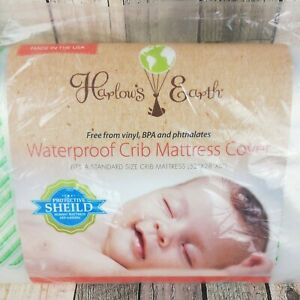 Harlow Earth Waterproof Crib Mattress Cover Free from Vinyl, BPA and Phthalates
