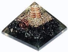 Tourmaline Stone Orgone Pyramid Energy Generator Reiki Orgonite Healing Crystal