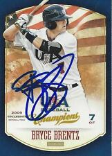 Bryce Brentz 2013 Panini USA Baseball Signed Card