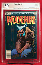 WOLVERINE LIMITED SERIES #3 PGX 7.0 FN/VF signed MILLER, CLAREMONT +1!!! +CGC!!!